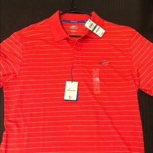 New Large Coral Greg Norman Golf Polo